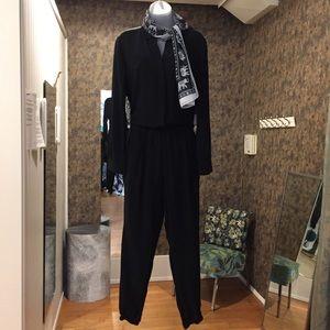 Eileen Fisher Super Hero Time 100% Silk Jumpsuit